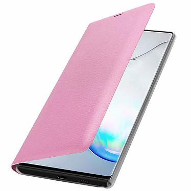 Avizar Etui folio Rose Portefeuille pour Samsung Galaxy Note 10 pas cher