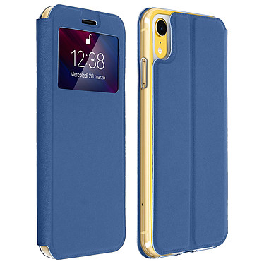 Avizar Etui folio Bleu pour Apple iPhone XR Etui folio Bleu Apple iPhone XR
