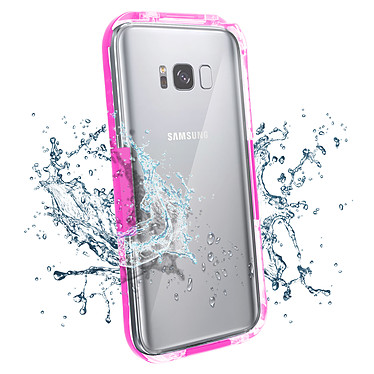 Avizar Coque étanche Rose pour Samsung Galaxy S8 pas cher