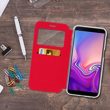 Acheter Avizar Etui folio Rouge à fenêtre pour Samsung Galaxy J6 Plus