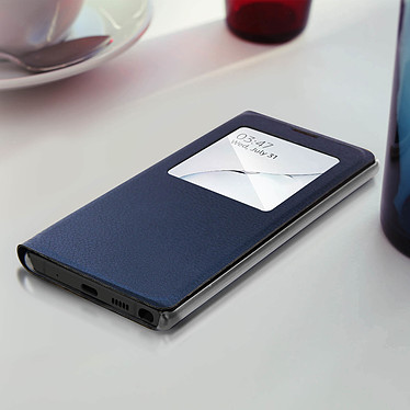 Acheter Avizar Etui folio Bleu Nuit à fenêtre pour Samsung Galaxy Note 10