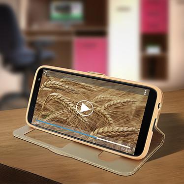 Avis Avizar Etui folio Dorée pour Samsung Galaxy J6