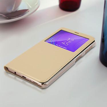 Acheter Avizar Etui folio Dorée à fenêtres pour Samsung Galaxy A7 2018