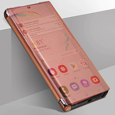 Avizar Etui folio Rose Champagne Translucide pour Samsung Galaxy Note 10 Plus pas cher