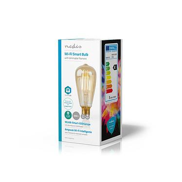 Avis Nedis Ampoule connectée LED Wi-Fi E27 ST64 5 W 500 lm