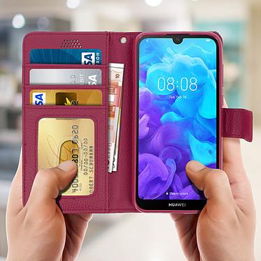 Acheter Avizar Etui folio Rose Éco-cuir pour Huawei Y5 2019 , Honor 8S