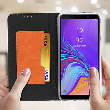 Acheter Avizar Etui folio Noir Bi-matières pour Samsung Galaxy A7 2018