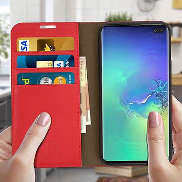 Acheter Avizar Etui folio Rouge pour Samsung Galaxy S10 Plus