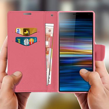 Acheter Avizar Etui folio Rose Fancy Style pour Sony Xperia 10 Plus