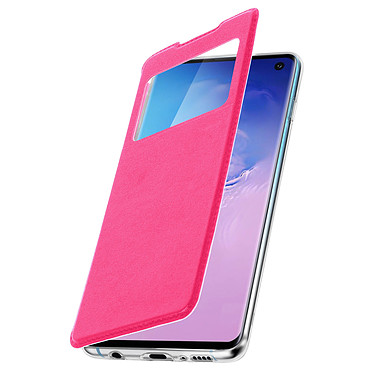 Avizar Etui folio Fuchsia Éco-cuir pour Samsung Galaxy S10 pas cher