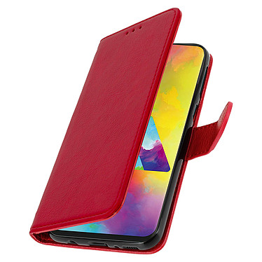 Avizar Etui folio Rouge pour Samsung Galaxy M20 pas cher