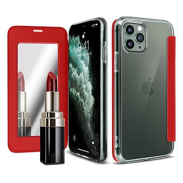 Avizar Etui folio Rouge Miroir pour Apple iPhone 11 Pro pas cher
