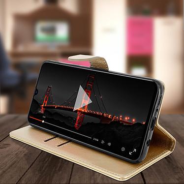 Avis Avizar Etui folio Dorée pour Samsung Galaxy A70