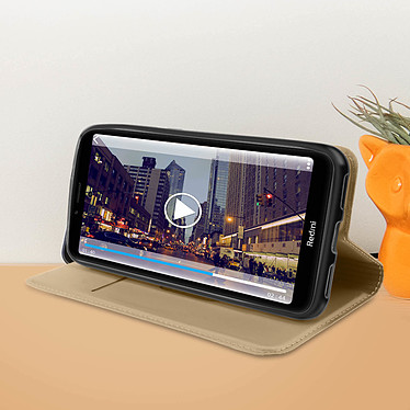 Acheter Avizar Etui folio Dorée Éco-cuir pour Xiaomi Redmi 7A