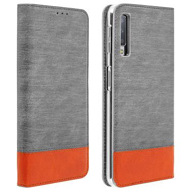 Avizar Etui folio Gris pour Samsung Galaxy A7 2018 Etui folio Gris Samsung Galaxy A7 2018