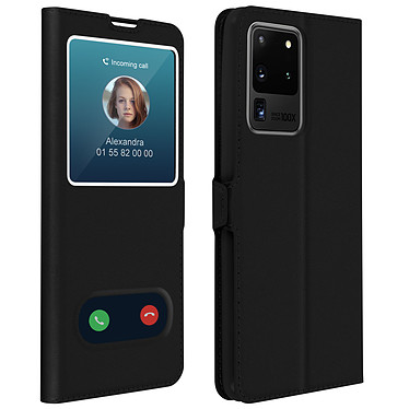 Avizar Etui folio Noir pour Samsung Galaxy S20 Ultra Etui folio Noir Samsung Galaxy S20 Ultra