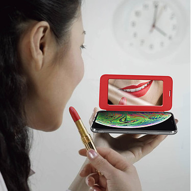 Acheter Avizar Etui folio Rouge Miroir pour Apple iPhone XS Max