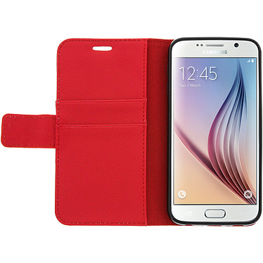 Avizar Etui folio Rouge pour Samsung Galaxy S6 pas cher