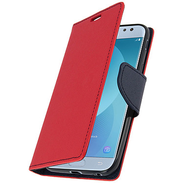 Avizar Etui folio Rouge Fancy Style pour Samsung Galaxy J3 2017 Etui folio Rouge Fancy Style Samsung Galaxy J3 2017