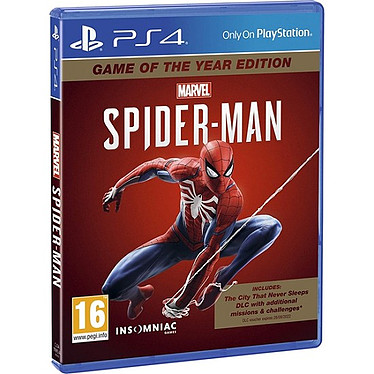 Marvel s Spider Man GOTY (PS4) Jeu PS4 Action-Aventure 16 ans et plus