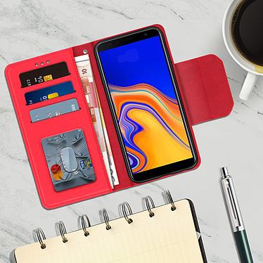 Acheter Avizar Etui folio Rouge Porte-Carte pour Samsung Galaxy J4 Plus
