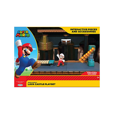 World of Nintendo - Playset Lava Castle Playset World of Nintendo, modèle Lava Castle.