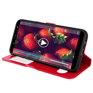 Avis Avizar Etui folio Rouge Éco-cuir pour Samsung Galaxy A6