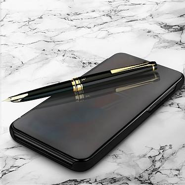 Avizar Etui folio Noir Design Miroir pour Huawei Y7 2019 pas cher