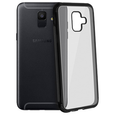 Avizar Coque Noir Bi-matières pour Samsung Galaxy A6 pas cher