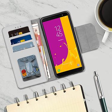 Acheter Avizar Etui folio Argent Porte-Carte pour Samsung Galaxy J6