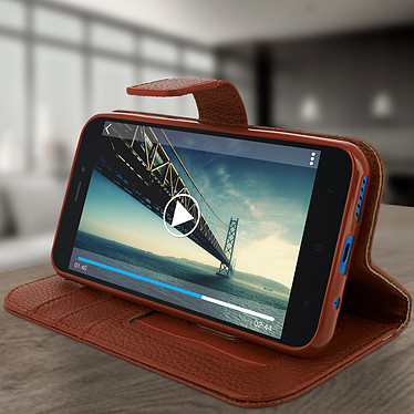 Avis Avizar Etui folio Marron pour Xiaomi Redmi Go