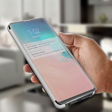 Avis Avizar Etui folio Argent pour Samsung Galaxy S10 Plus