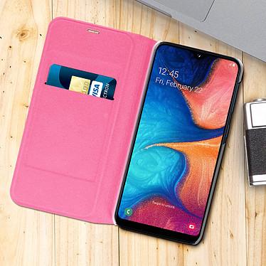 Acheter Avizar Etui folio Rose Portefeuille pour Samsung Galaxy A20e