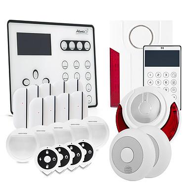 Atlantic'S ATEOS - Alarme de maison sans fil GSM Kit 10 ATEOS - Alarme de maison sans fil GSM Kit 10