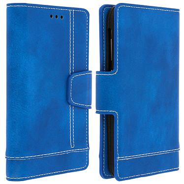 Avizar Etui folio Bleu pour Smartphones de 5.0' à 5.5' Etui folio Bleu Smartphones de 5.0' à 5.5'