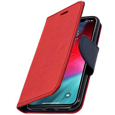 Avizar Etui folio Rouge Fancy Style pour Apple iPhone XS Max pas cher