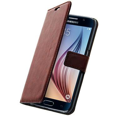 Avizar Etui folio Marron pour Samsung Galaxy S6 Etui folio Marron Samsung Galaxy S6