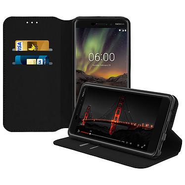 Avizar Etui folio Noir pour Nokia 6.1 Etui folio Noir Nokia 6.1