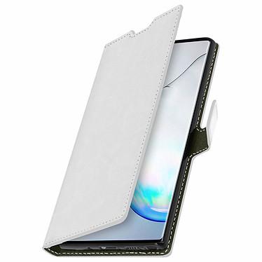 Avizar Etui folio Blanc Vintage pour Samsung Galaxy Note 10 pas cher
