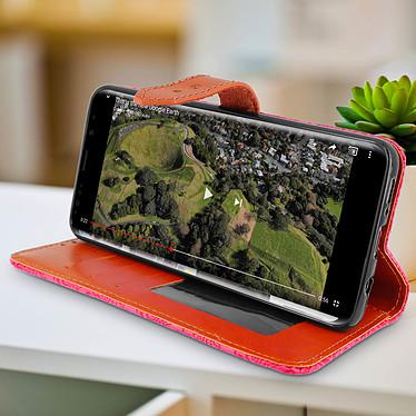 Avis Avizar Etui folio Rose pour Samsung Galaxy S9 Plus