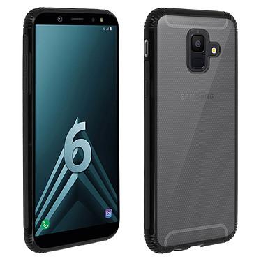 Avizar Coque Noir Bi-matières pour Samsung Galaxy A6 Coque Noir bi-matières Samsung Galaxy A6
