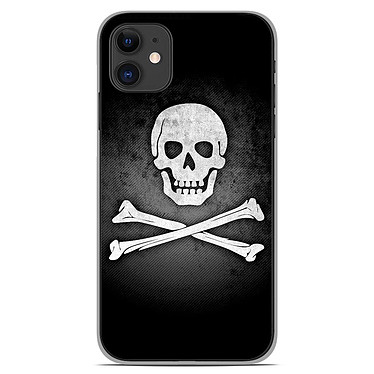 1001 Coques Coque silicone gel Apple iPhone 11 motif Drapeau Pirate Coque silicone gel Apple iPhone 11 motif Drapeau Pirate