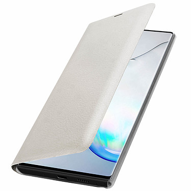 Avizar Etui folio Blanc pour Samsung Galaxy Note 10 pas cher