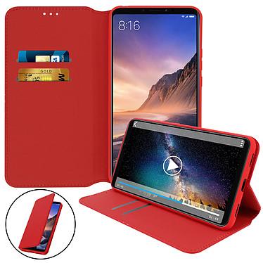 Avizar Etui folio Rouge pour Xiaomi Mi Max 3 pas cher