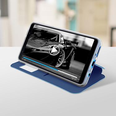Avis Avizar Etui folio Bleu Éco-cuir pour Samsung Galaxy A7 2018