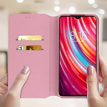 Acheter Avizar Etui folio Rose Champagne pour Xiaomi Redmi Note 8 Pro