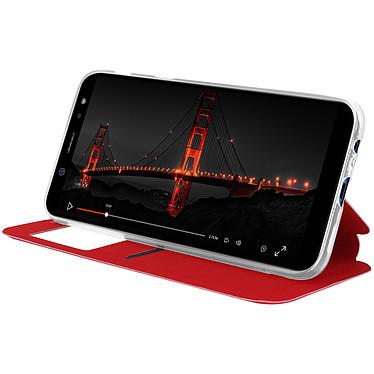 Avis Avizar Etui folio Rouge à fenêtre pour Samsung Galaxy A6 Plus