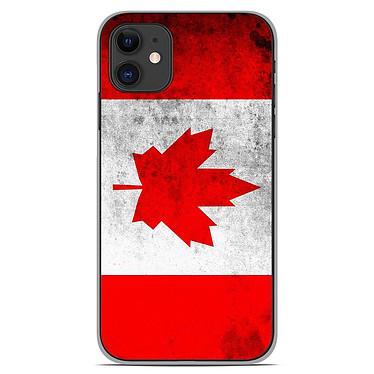 1001 Coques Coque silicone gel Apple iPhone 11 motif Drapeau Canada Coque silicone gel Apple iPhone 11 motif Drapeau Canada