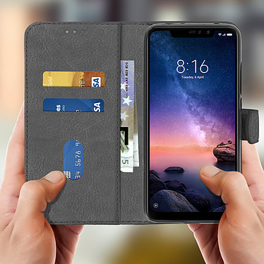 Acheter Avizar Etui folio Gris pour Xiaomi Redmi Note 6 Pro