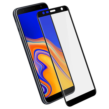 Avizar Film verre trempé Noir pour Samsung Galaxy J6 Plus Film verre trempé Noir Samsung Galaxy J6 Plus